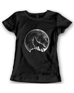 Wolf Maan T-Shirts Cadeauidee Voor Dames 100% Katoen