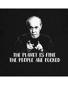 De Planeet Is Fijn George Carlin Komiek Zin T-Shirt