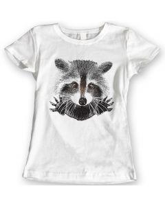 Raccoon Ik Ben Het Niet Grappig T-Shirts Cadeauidee Voor Dames 100% Katoen