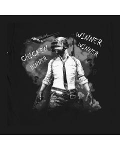 Winnaar Winnaar Kippen Diner Shirt, PUBG tee, Playerunknown's Battlegrounds T-Shirt