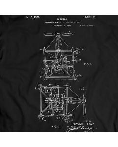Tesla Aerial Transportation Patent 1968 T-Shirt Mens Gift Idea Nicola Tesla Tee Holiday Gift Birthday Present