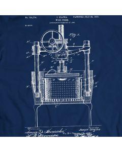Vintage Wine Press Patent T-Shirt