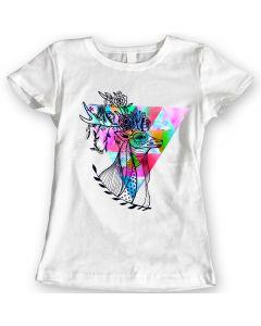 Hertenbloemen Zomer 2019 T-Shirts Waterverf Cadeauidee Voor Dames 100% Katoen